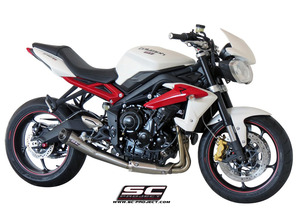 sc project exhaust triumph street triple 675 r rx conic silencer 13 16. Black Bedroom Furniture Sets. Home Design Ideas