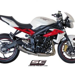 SC Project Exhaust Triumph Street Triple 675 R RX Conic Silencer 13-16
