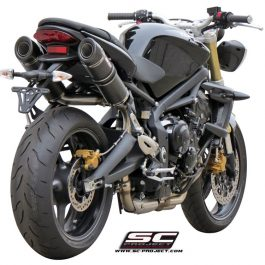 SC Project Exhaust Triumph Street Triple 675 R GP-TECH Silencers 07-12