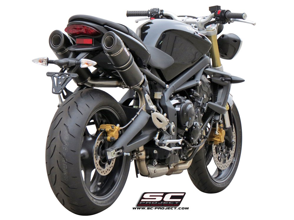 sc project exhaust triumph street triple 675 r gp tech silencers 07 12. Black Bedroom Furniture Sets. Home Design Ideas