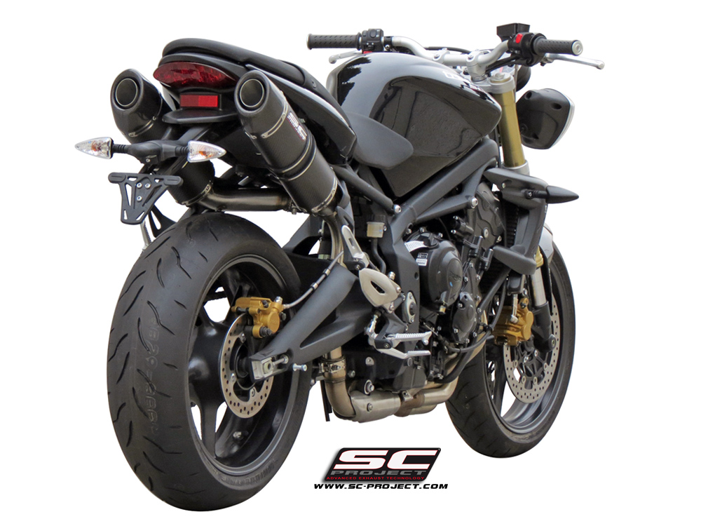 sc project exhaust triumph street triple 675 r oval silencers 07 12. Black Bedroom Furniture Sets. Home Design Ideas