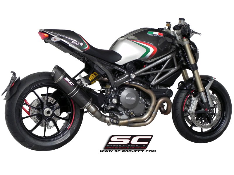 SC Project Exhaust Ducati Monster 1100 EVO Oval Silencer