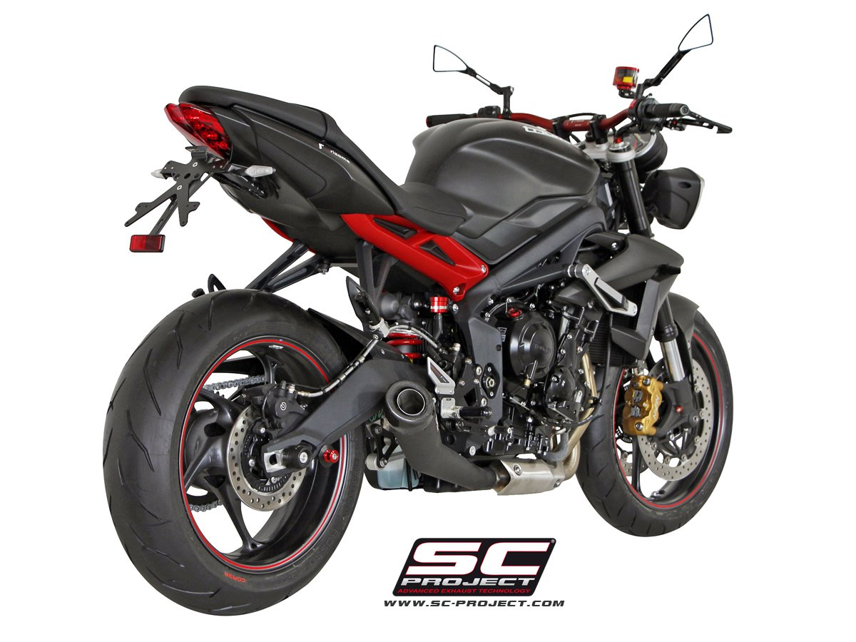 sc project exhaust triumph street triple 675 r rx matt black conic. Black Bedroom Furniture Sets. Home Design Ideas