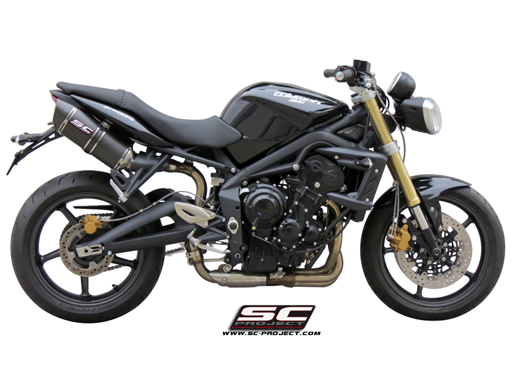 SC Project Exhaust Triumph Street Triple 675 R Oval Silencers 07-12