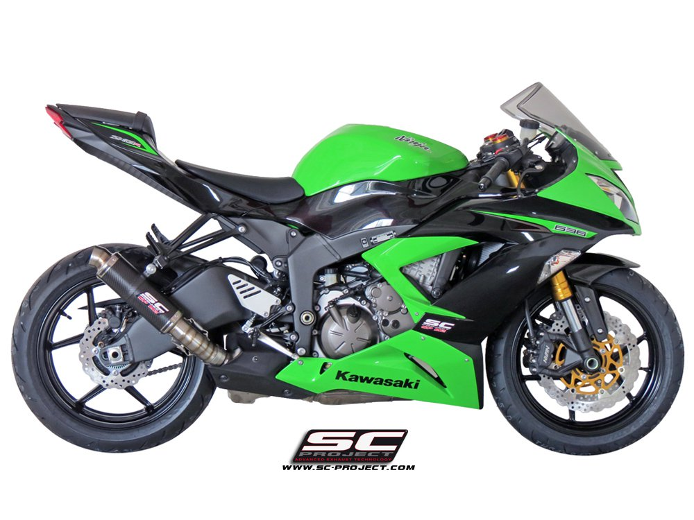 sc project exhaust kawasaki ninja zx 6r 636 gp m2 silencer 2013. Black Bedroom Furniture Sets. Home Design Ideas