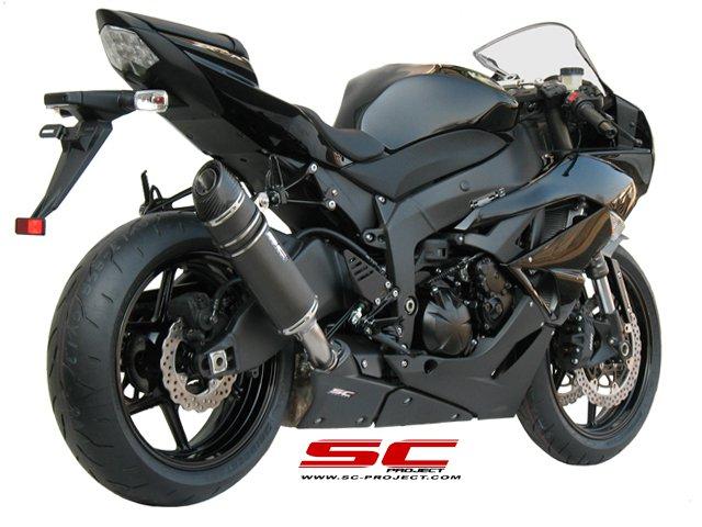 SC Project Exhaust Kawasaki Ninja ZX-6R Oval Silencer 2009-2012