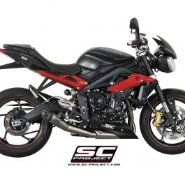 SC Project Exhaust Triumph Street Triple 675 R RX S1 Conic Silencer 13-16