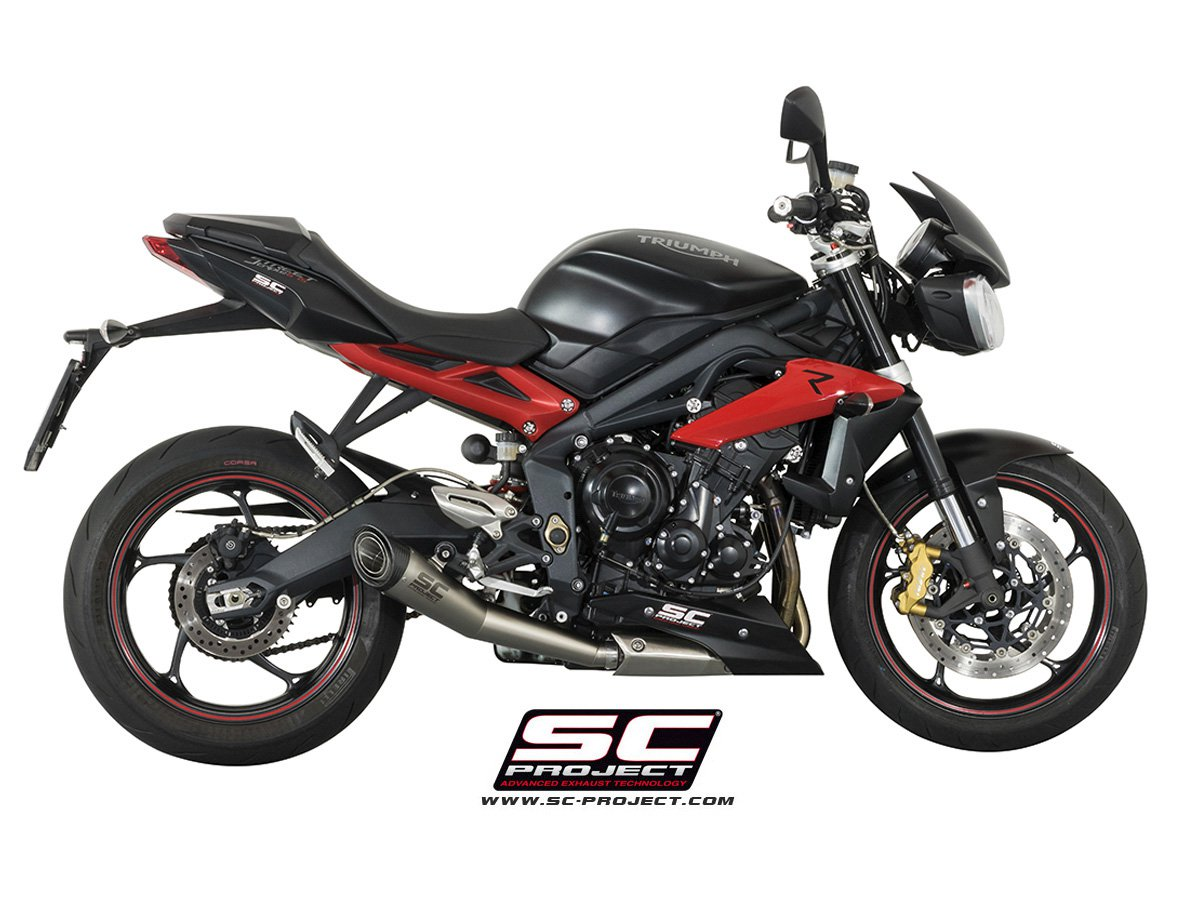 sc project exhaust triumph street triple 675 r rx s1 conic silencer. Black Bedroom Furniture Sets. Home Design Ideas