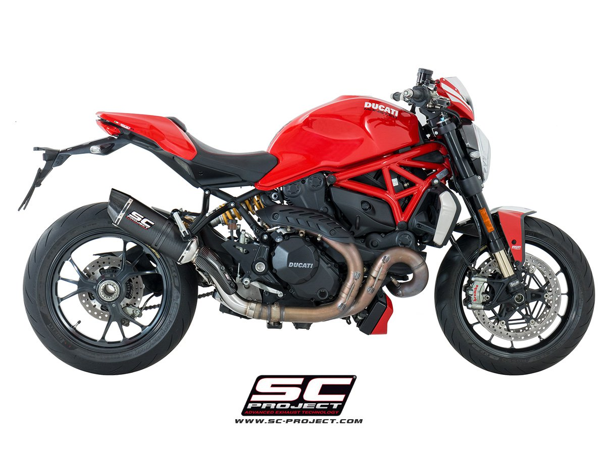 sc project exhaust ducati monster 1200 r oval matt carbon. Black Bedroom Furniture Sets. Home Design Ideas