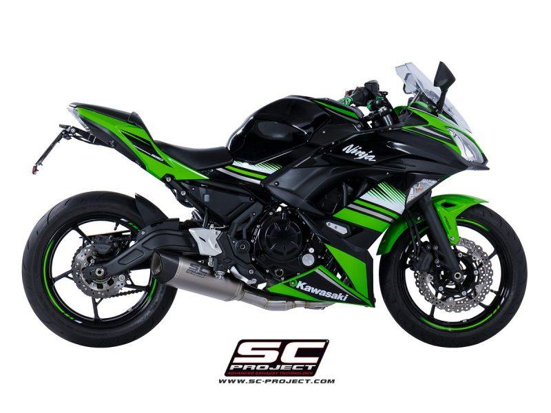 SC Project Exhaust Kawasaki Ninja 650 Full System 2-1 SC1-R Silencer 2017+
