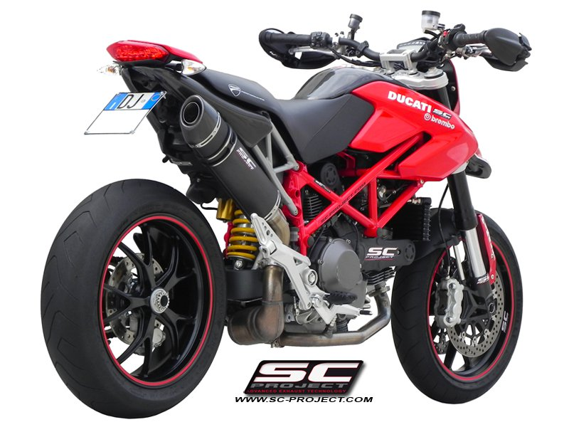 SC Project Exhaust Ducati Hypermotard 1100 EVO SP Oval Silencer