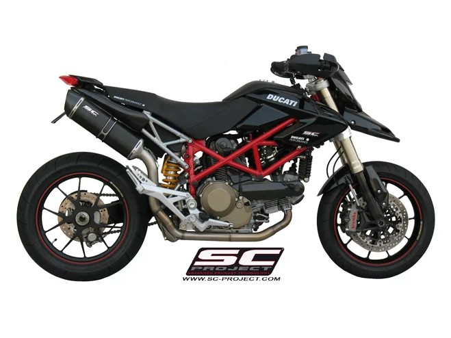 SC Project Exhaust Ducati Hypermotard 1100 Oval Silencer Full System 2-1