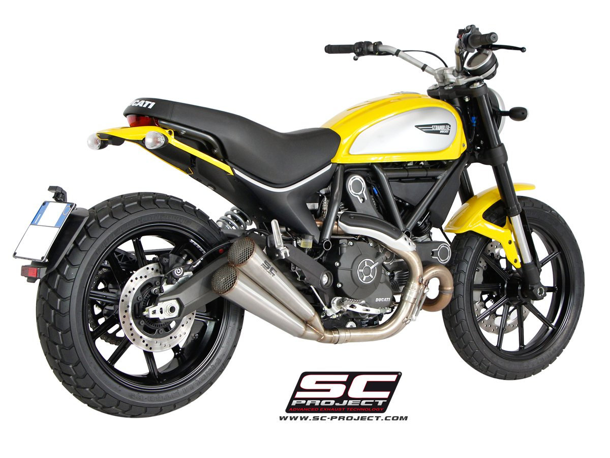 sc project exhaust ducati scrambler twin conic silencers. Black Bedroom Furniture Sets. Home Design Ideas