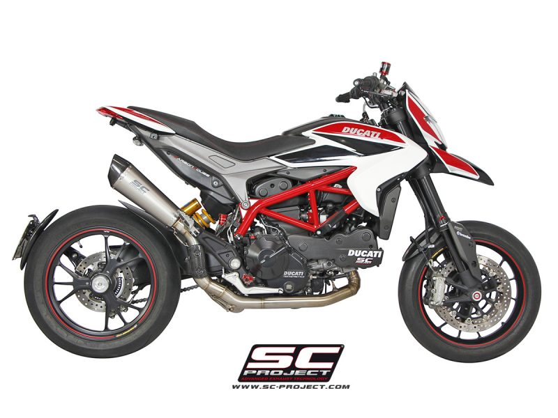 SC Project Exhaust Ducati Hypermotard 821 Conic silencer - High Position Full System 2-1 2013-16