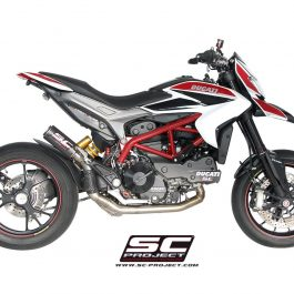 SC Project Exhaust Ducati Hypermotard 821 CR-T Silencer - High Full System 2-1 2013-16