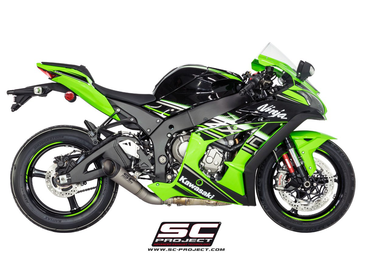 sc project exhaust kawasaki ninja zx 10r s1 silencer low position. Black Bedroom Furniture Sets. Home Design Ideas
