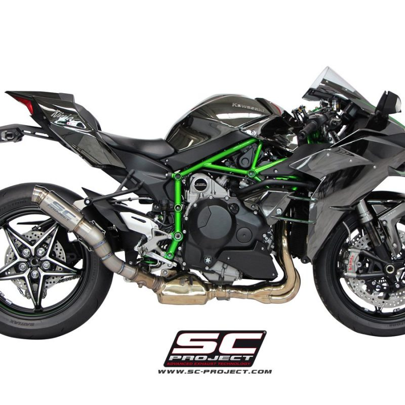 SC Project Exhaust Kawasaki Ninja H2 GP70-R Silencer 2015+