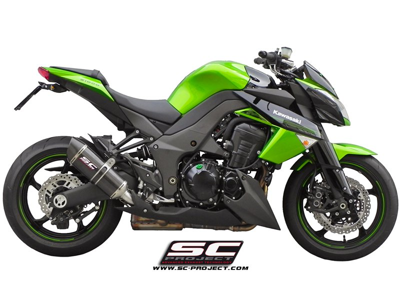 SC Project Exhaust Kawasaki Z1000 / SX Oval Silencers 2010 - 2013