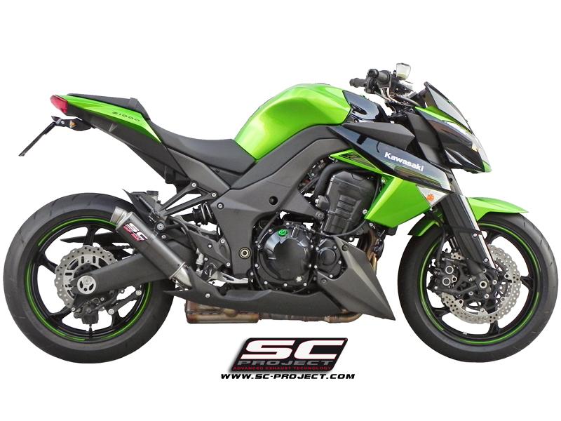 SC Project Exhaust Kawasaki Z1000 / SX GP M2 Silencers 2010 - 2013