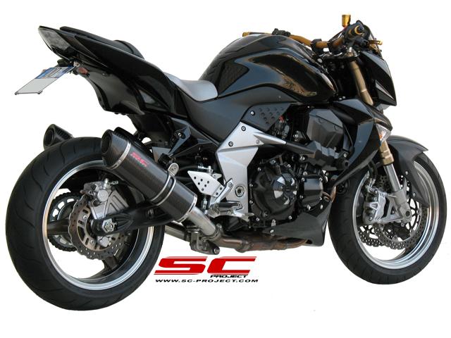 SC Project Exhaust Kawasaki Z1000 Oval Silencers 2007 - 2009
