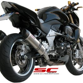 SC Project Exhaust Kawasaki Z1000 Oval Silencers 2007 - 2009