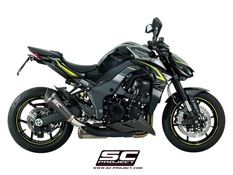 SC Project Exhaust Kawasaki Z1000 Carbon Conic Silencers 2017+