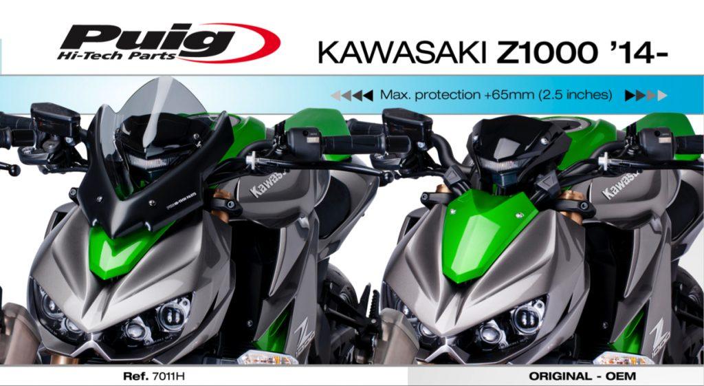 Puig Kawasaki Z1000 Sport Windshield Screen 2014-18