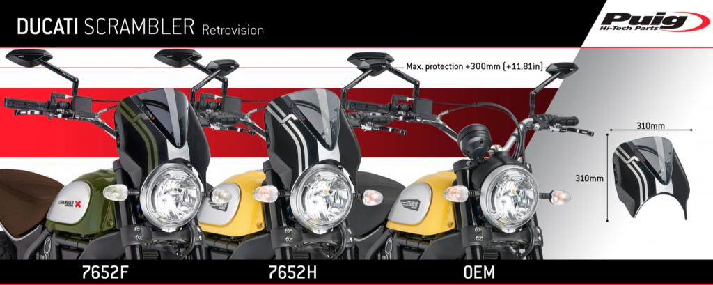 Puig Ducati Scrambler Retrovision Screen