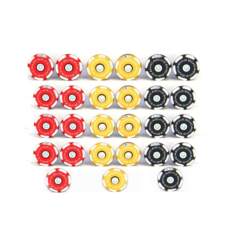 Ducabike Ducati Streetfighter 848 1098 Frame Plug Caps Bi-Colour