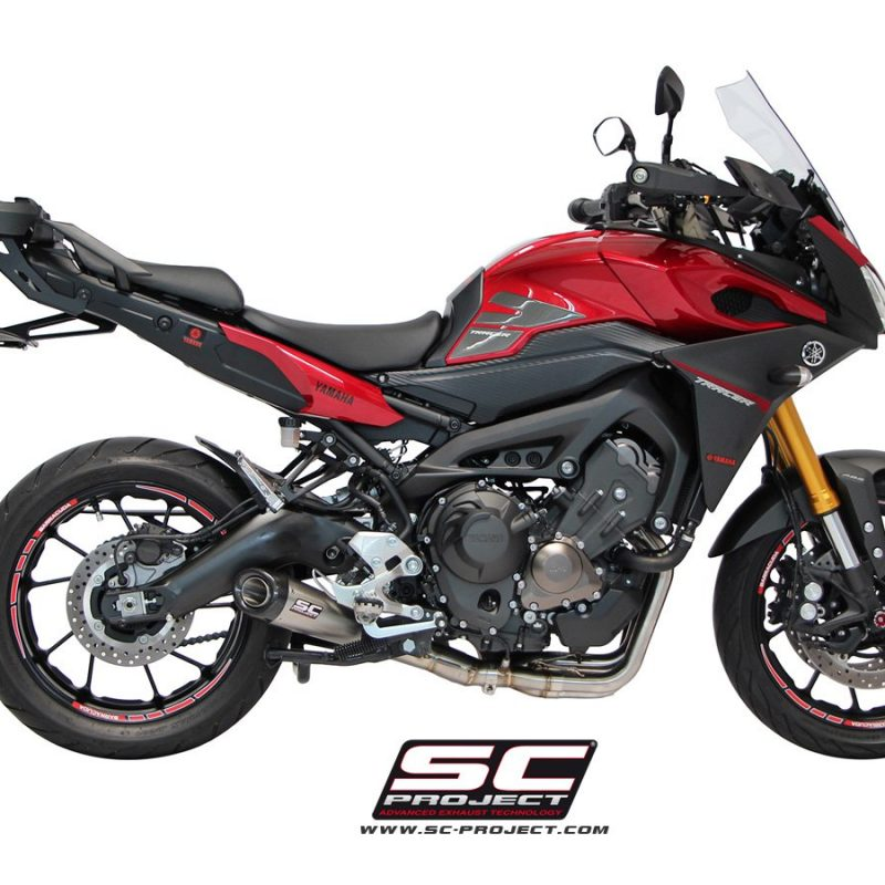 SC Project Exhaust Yamaha MT-09 Tracer Full system 3-1 Conic Silencer 2017+