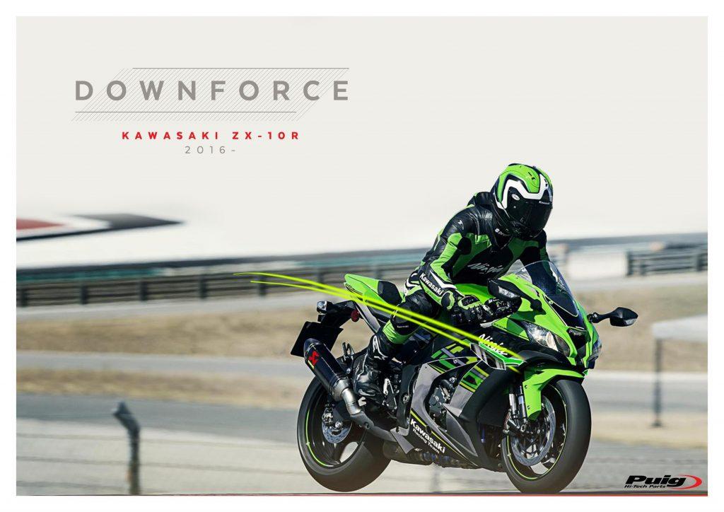 Puig Kawasaki ZX10 Downforce Racing Spoiler Wings 2016-2020