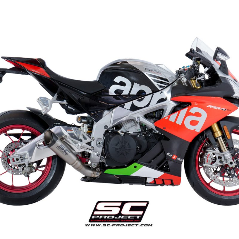 SC Project Exhaust Aprilia RSV4 RF RR S1 Silencer Low Position 2018+
