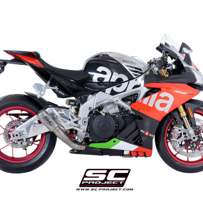 SC Project Exhaust Aprilia RSV4 RF RR CR-T Silencer Low Position 2018+