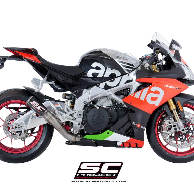 SC Project Exhaust Aprilia RSV4 RF RR CR-T Silencer High Position 2018+