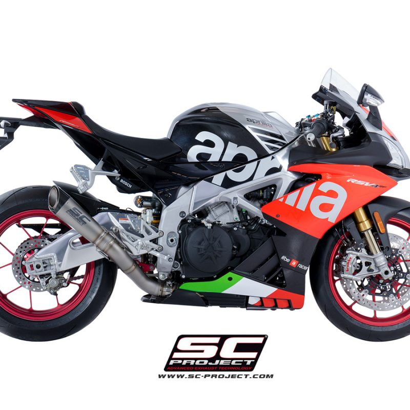 SC Project Exhaust Aprilia RSV4 RF RR S1 Silencer High Position 2018+