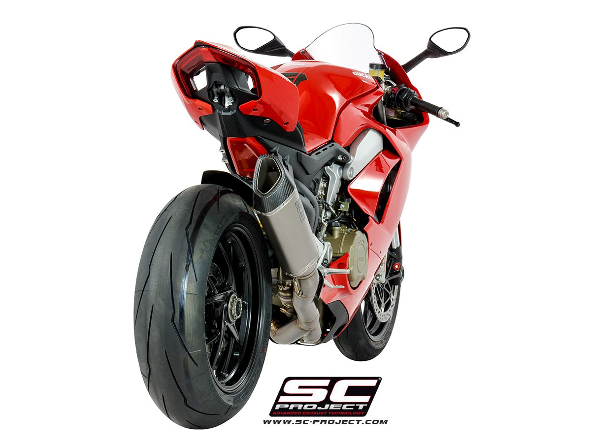 sc project exhaust ducati panigale v4 full system sc1 r high position. Black Bedroom Furniture Sets. Home Design Ideas