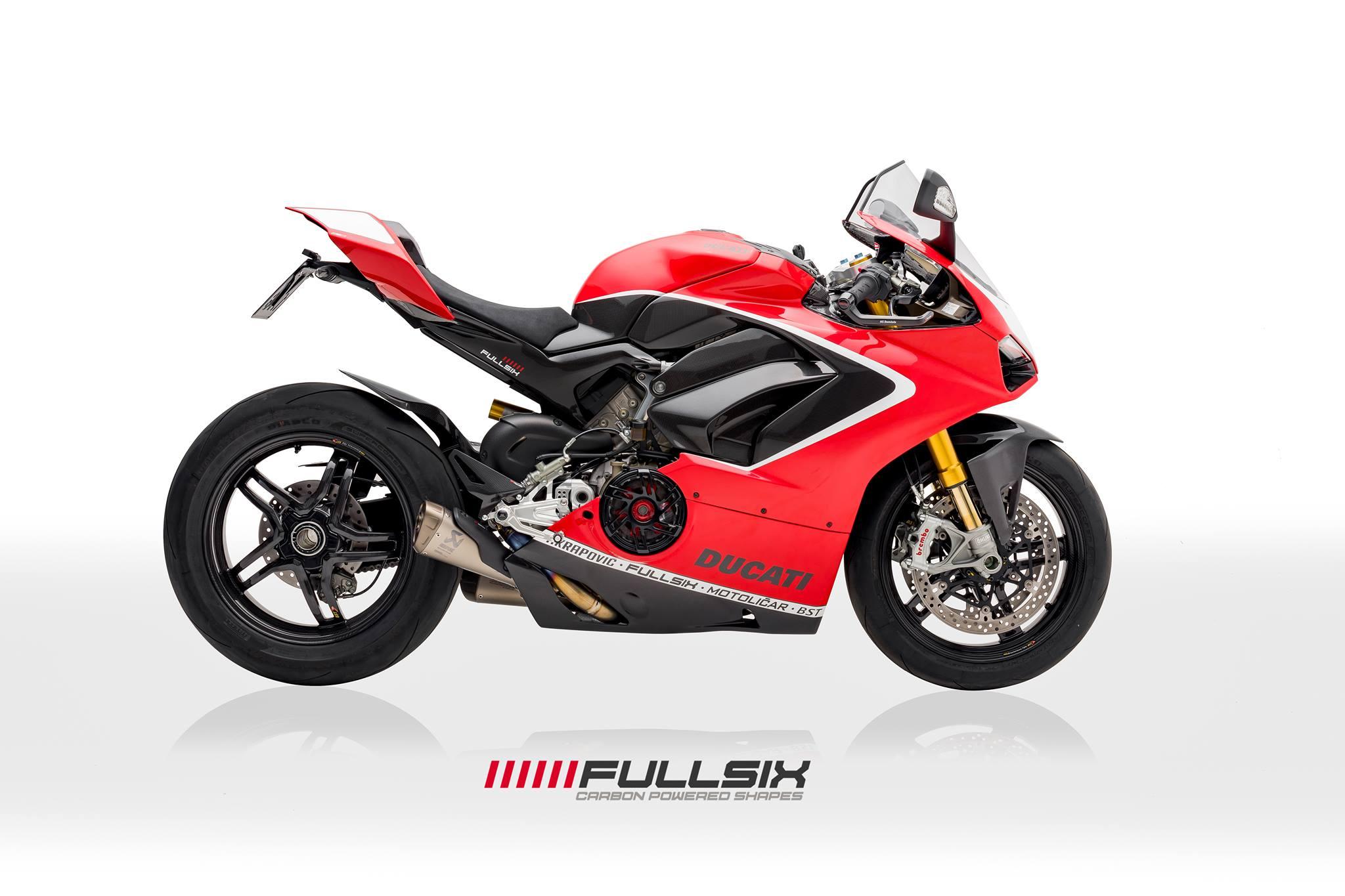 Fullsix Ducati Panigale V4 Carbon Fibre Front Fender Mudguard
