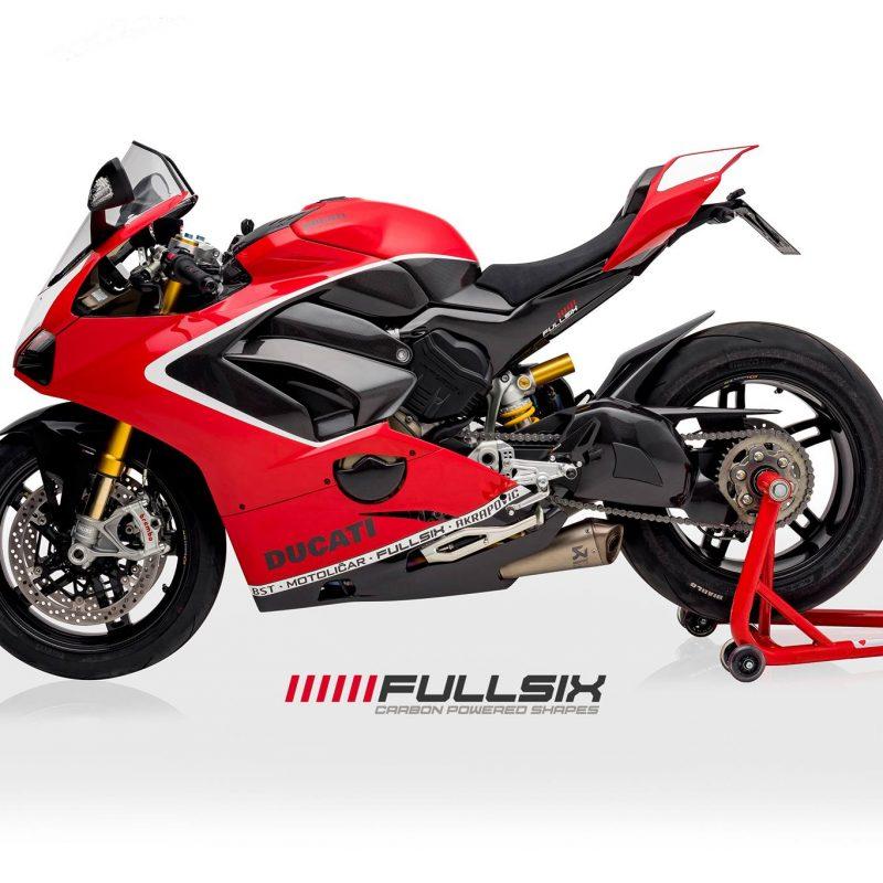 Fullsix Ducati Panigale V4 Carbon FibreFrame Covers Set