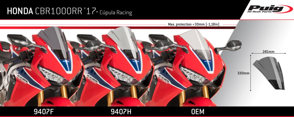 Puig Honda CBR1000RR SP SP-2 Double Bubble Screen 2017+