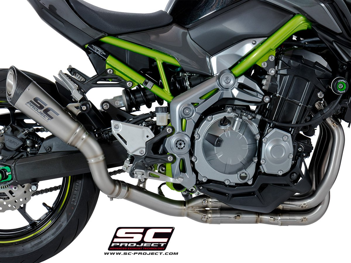 sc project exhaust kawasaki z900 full system exhaust 4 2 1. Black Bedroom Furniture Sets. Home Design Ideas