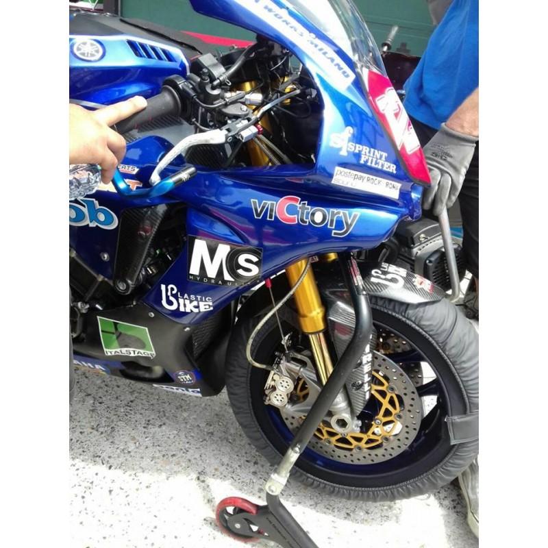 Yamaha TDM900 Non ABS 2002-2012 Wezmoto Full Length Race Braided Brake Lines