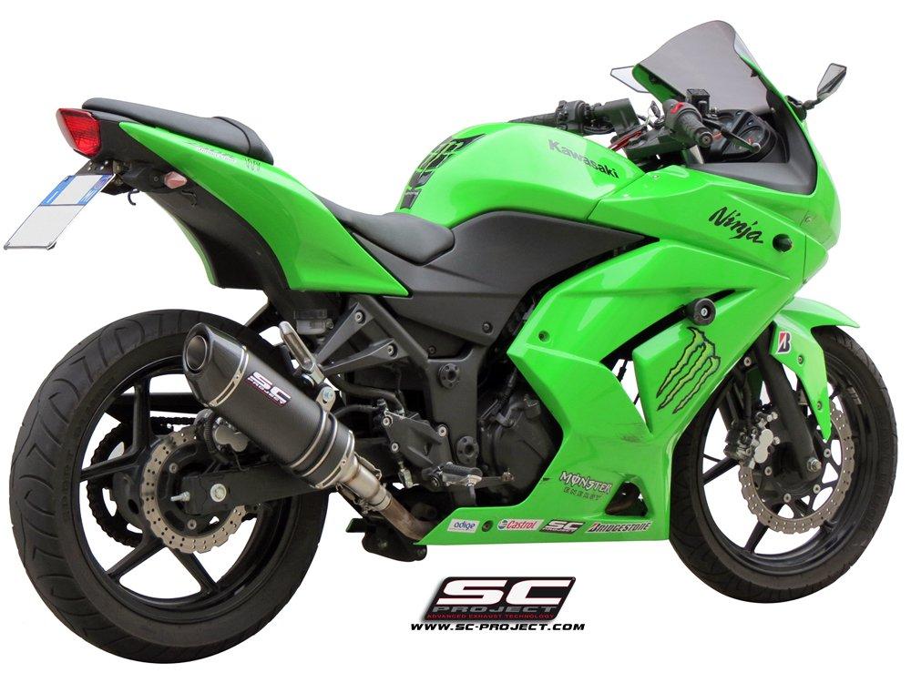 SC Project Exhaust Kawasaki Ninja 250R Oval Silencer