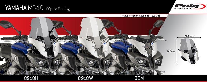 Puig Yamaha MT10 FZ-10 Touring Screen