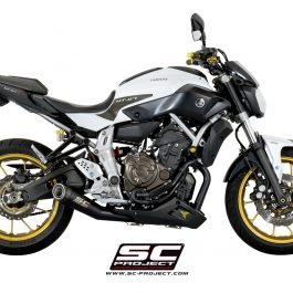 sc project exhaust yamaha mt07 conquest carbon. Black Bedroom Furniture Sets. Home Design Ideas