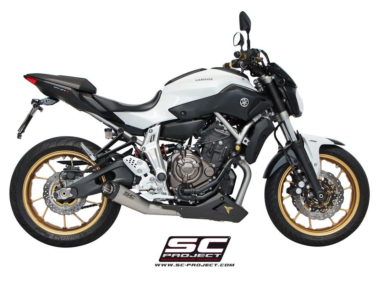 sc project exhaust yamaha mt 07 full system 2 1 matte grey conic silencer. Black Bedroom Furniture Sets. Home Design Ideas