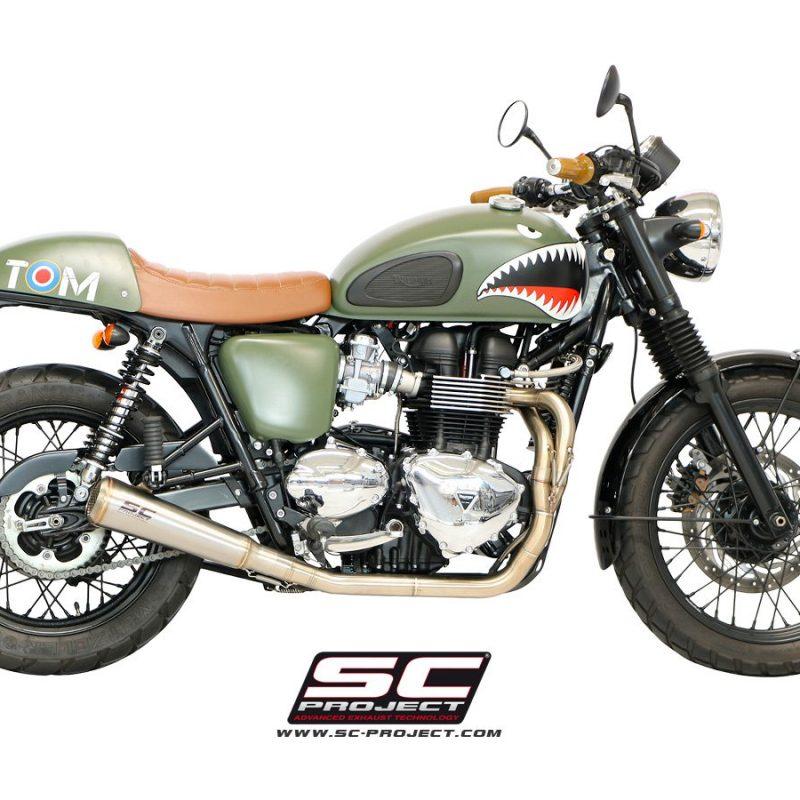 SC Project Exhaust Triumph Bonneville   Conquest Racing Ltd