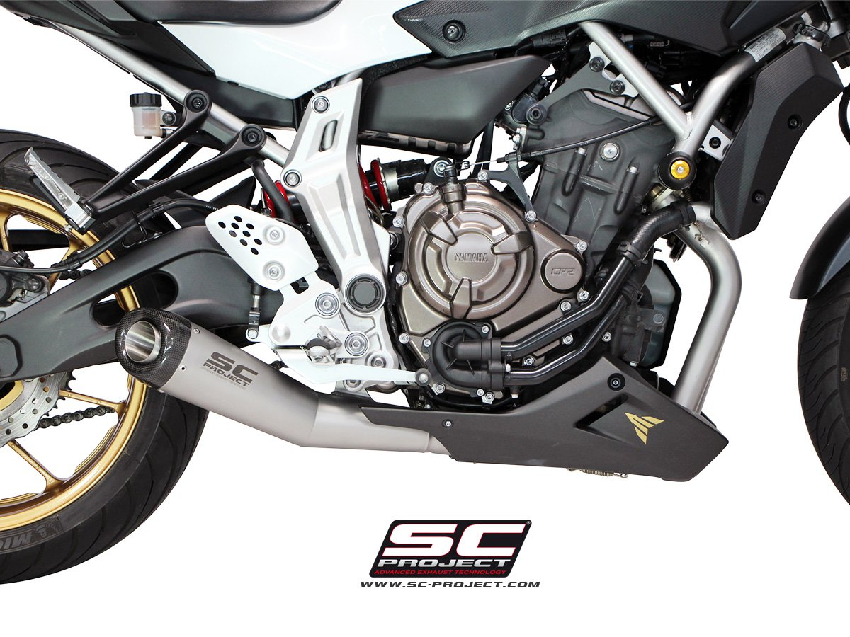 sc project exhaust yamaha mt 07 full system 2 1 matte grey. Black Bedroom Furniture Sets. Home Design Ideas
