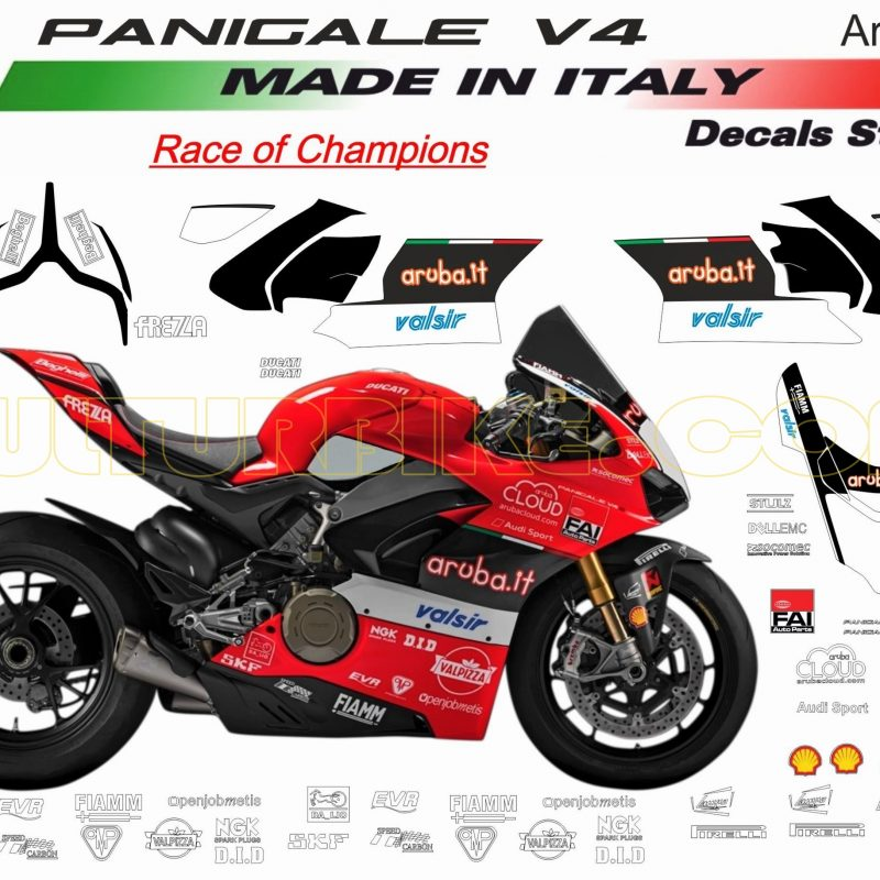 Vulturbike Ducati Panigale V4 Aruba WSBK Decal Sticker Kit