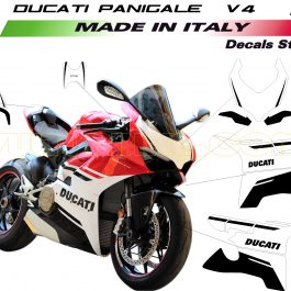 Vulturbike Ducati Panigale V4 Custom Black Decal Sticker Kit