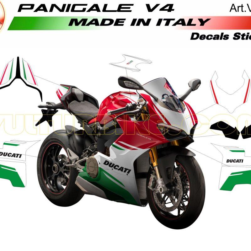 Vulturbike Ducati Panigale V4 Custom Green Decal Sticker Kit